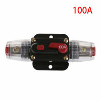 CAR STEREO AUDIO 12V CIRCUIT BREAKER FUSE INLINE FITS 4 8 GAUGE WIRE 100 AMP NEW