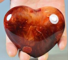 """3.3"""" Polished Natural CARNELIAN HEART Crystal from Madagascar"""
