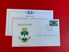 SIERRA LEONE 1984 FDC FRANKLIN OLYMPIC GAMES LOS ANGELES ATHLETICS HURDLES