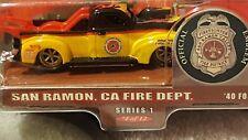 2000 Hot Wheels Fire Depaetment Rods Series, #4/12, Yellow/Black San Ramon, CA.