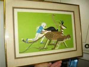 "Rare Charley Harper Serigraph/Silkscreen Signed limited Ed. Framed  Matted 17"""