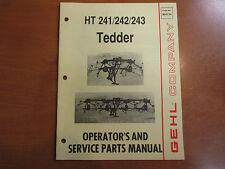 Gehl 241 242 243 hay tedder Owners & Parts & Maintenance Manual