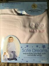 HALO Small Birth To 3 Months Back To Best( Pink )Safe Dreams Swaddle  NEW