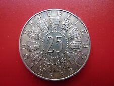 1956 Austria Plata 25 Schilling