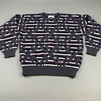 VTG Chapel Hill Sz L Coogi Style Sweater Colorful Acrylic Bill Cosby 1990s