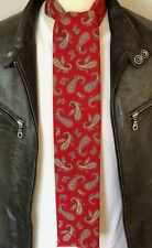 SUPERNOVA Gents Red & Tan Paisley Mod Scarf Indie Scooter Retro Oasis Weller