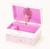 Pink Girls Ballet Shoes Moving Ballerina Musical Jewellery Box With Drawer Large