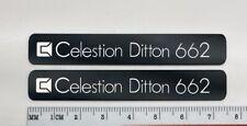 Celestion  Ditton 662 Speaker Badge Logo Emblem Custom Made Aluminum PAIR