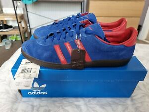 Mens Adidas Spiritus SPZL Blue And Red Trainers Size UK 11
