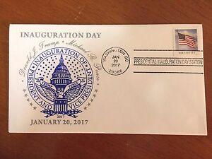 OFFICIAL FDC Washington D.C. Inaugural Postmark PRESIDENT DONALD TRUMP 1/20/2017