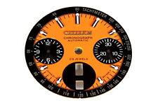 Dial (orange) for Citizen 8110 automatic bull-head chronograph