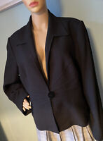 Windsmoor Womens Single Breasted Blazer Lined Jacket Uk Size 18 Black Great Cond