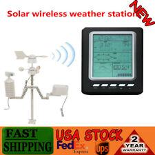 Professional Wireless Weather Station WiFi w/ Wind Speed Humidity Solar Powered