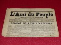 [PRESSE XIXe] MAXIME LISBONNE  L'AMI DU PEUPLE # 10 - 2e S. JEU 5 MARS 1885 Rare