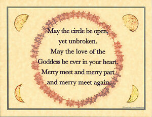 Poster Page MERRY MEET Pagan Wicca Book of Shadows Guide 8 1/2 x 11