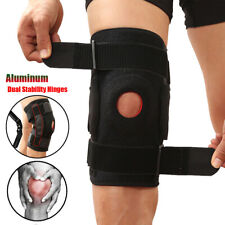 Double Hinged Knee Brace Adjustable Open Patella Stabilizer Support Sport/Injury