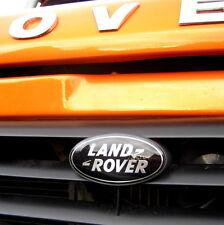 Land Rover Defender BLACK+SILVER front grille badge oval 90 110 logo upgrade