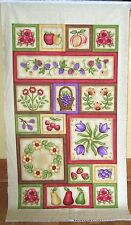 """1 Colorful """"Orchard Park"""" Cotton Quilting/Wallhanging Fabric Panel"""