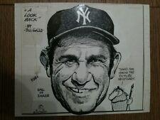 Bill Gallo ORIGINAL Mixed Media Painting Signed Auto NY Yankees Yogi Berra RARE