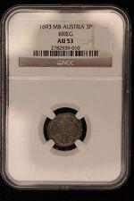 1693 MB Austria / Brieg . 3 Pfennig, NGC Graded AU-53