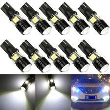 10x T10 W5W 5050 SMD 1.5W 4-LED XENON White Wedge Light Lamp Bulb