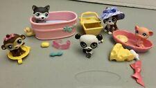 Littlest Pet Shop - Bath Time, Picnic Set & Pink Basket