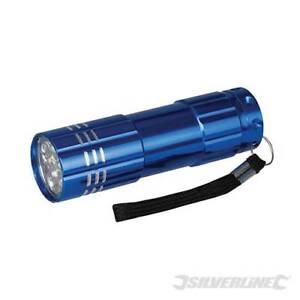 Pocket Torch Aluminium 45 lumen 9 LED 90mm