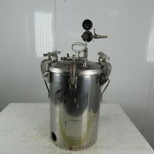 Binks 15 Gallon Stainless Steel Pressure Pot Tank Pressurized Paint 110 Psi