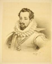 LITHOGRAPHIE de J-B MAUZAISSE Jean-Louis de Nogaret de La Valette duc d'Épernon