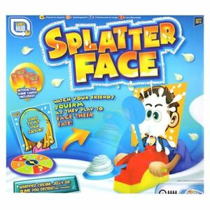Splater Face Showdown Game Fun Filled Family Game of Suspense Pie Face New