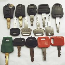 14pc Heavy Equipment Key Set Construction Ignition Keys CAT  Volvo deere kubota