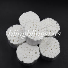 500 Rolls Dental Cotton Fibers Disposable Absorbent Hemostatic Soft Pliable Wadd