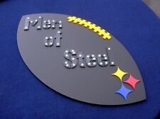 STEELERS 3D art sign Large new football NFL Men of Steel  Pittsburgh curtain