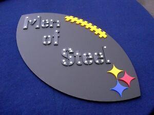 STEELERS 3D art sign new football NFL Men of Steel Pittsburgh Rivers sm version