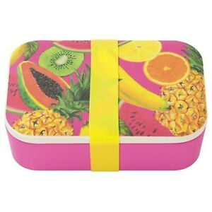 Tropical Fiesta Fruit Eco Reusable Lunch Box, Bamboo, Pink