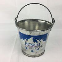 Busch beer metal can bucket ice beverage holder Collectible Vintage