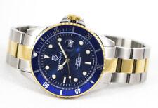 Men's Quartz Watch Diver's 30 Bar Solid Steel ADVANTAGE XXL bicolor-azurblau