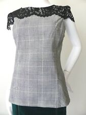 REVIEW  Cap Sleeve Grey Top  Size 8 US 4 rrp $199.95