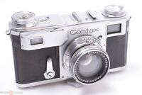 ✅ ZEISS CONTAX II 35MM RANGE FINDER CAMERA PARTS/REP. W/ 50MM F/2 SONNAR LENS
