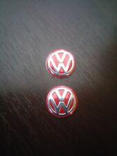 2x 14MM VW Volkswagen Red KEY FOB LOGO BADGE EMBLEM STICKER
