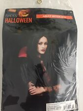 Adult Witch Long BLACK Hair Halloween Costume wig. NEW