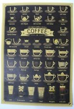38 Ways to Make a Perfect Coffee Poster Print Wall Decoration Barista Menu Style