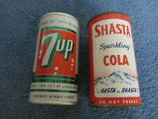 Vintage 7-Up Flat Top and Shasta Cola Lot of 2