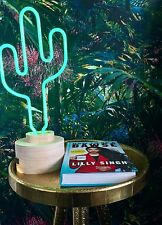 CHIC LUMOSNAP NEON GREEN CACTUS TABLE DESK LAMP LIGHT 42.5CM Loveitclickithaveit