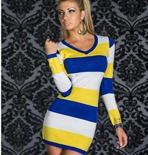 Sexy Women Bandage Bodycon Long Sleeve Evening Sexy Party Cocktail Mini Dress M