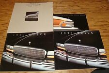 Original 1991 Buick Sales Brochure Lot of 4 91 Full Line Roadmaster Park Avenue