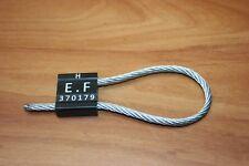 5 Scellés câbles ALUTEC de haute sécurité antifraude 5 x 250 mm Numérotés Noir