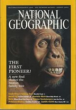 NATIONAL GEOGRAPHIC August 2002 ~ New Human Find? / Mt Fuji / Bahia