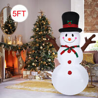 Christmas Inflatable Snowman Airblown Holiday Yard Outdoor Light Decoration 5ft