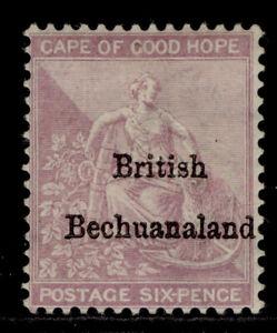 BRITISH BECHUANALAND QV SG7, 6d reddish purple, M MINT. Cat £200.